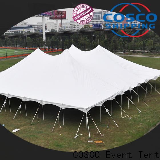 COSCO pole festival tents China grassland
