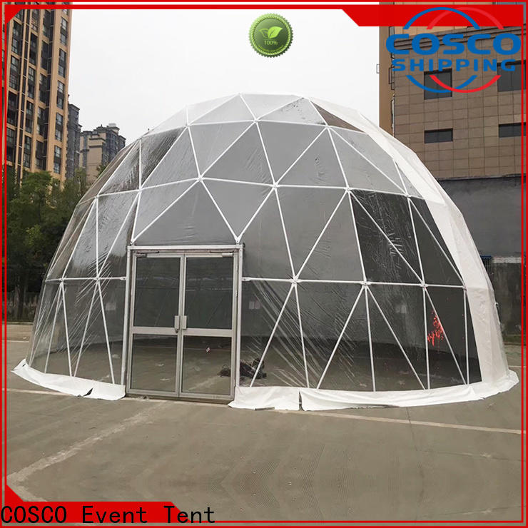COSCO pvc geodesic dome tents China for wedding
