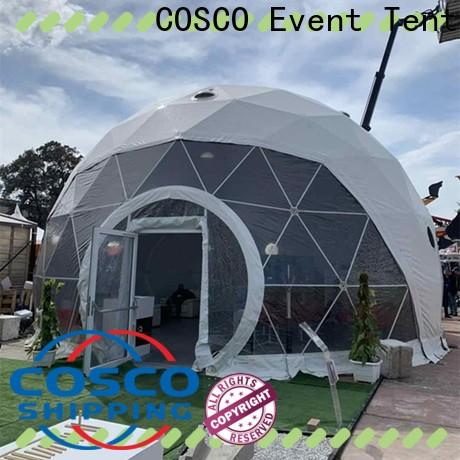 COSCO party geodesic dome tents certifications for engineering