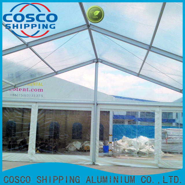 COSCO tent tent structures cost for disaster Relief