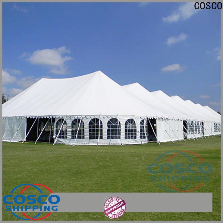 COSCO high peak commercial party tents for sale supplier for camping