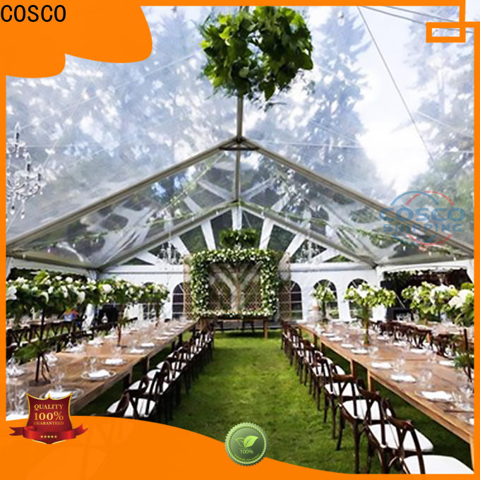 COSCO unique tent structures type for disaster Relief