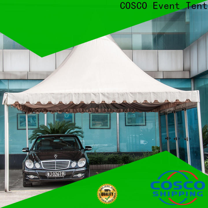 COSCO event small gazebo in-green for disaster Relief