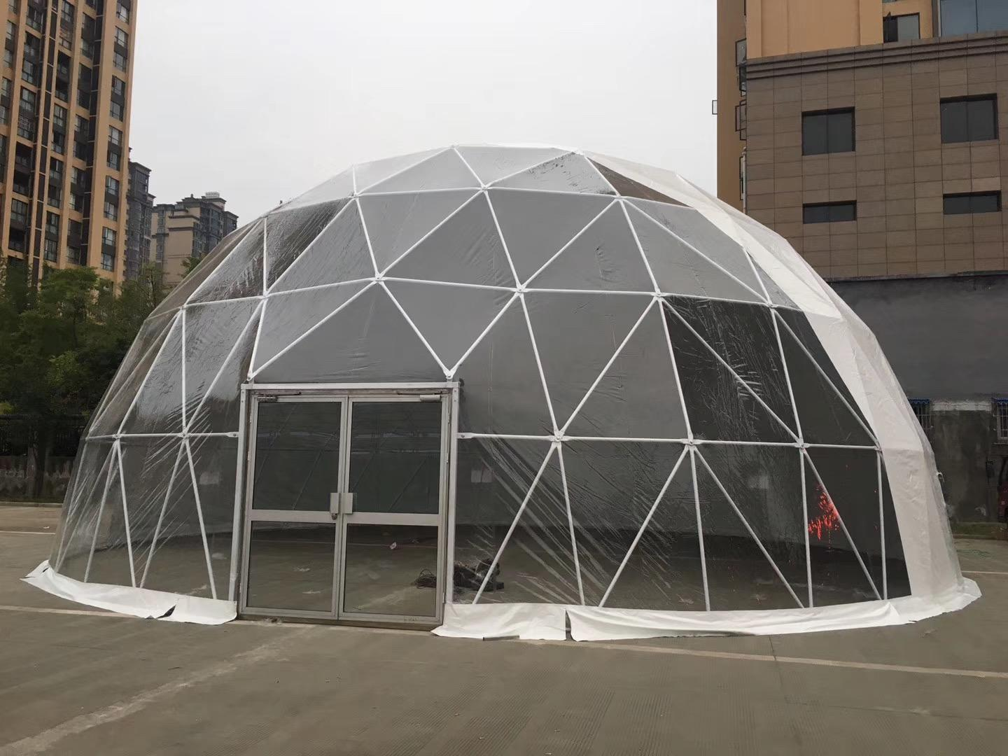 COSCO marquee geodesic dome tent event Sandy land