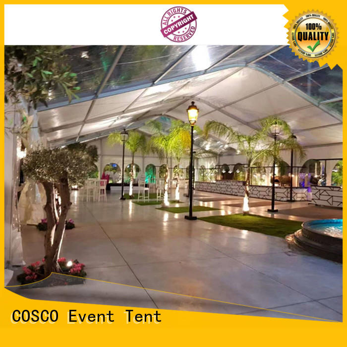 COSCO structure marquee tents prices grassland