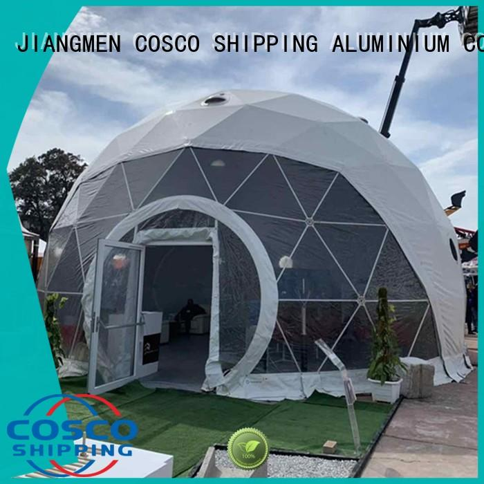 COSCO curved geodesic dome tent supplier factory