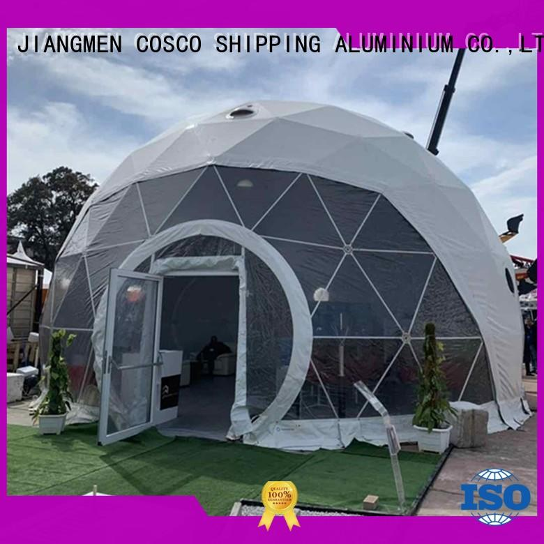 COSCO tent geodesic dome tent in different shape cold-proof