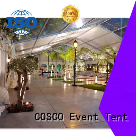 COSCO transparent marquee event tent factory rain-proof
