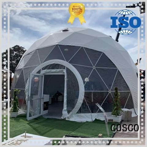 COSCO event geodesic dome tent China for disaster Relief